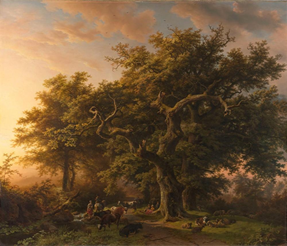 Scena leśna Barend Cornelis Koekkoek