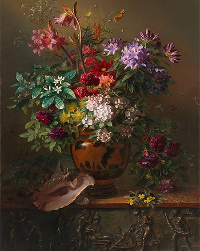 Martwa natura z kwiatami w greckim wazonie Alegoria wiosny Georgius Jacobus Johannes van Os