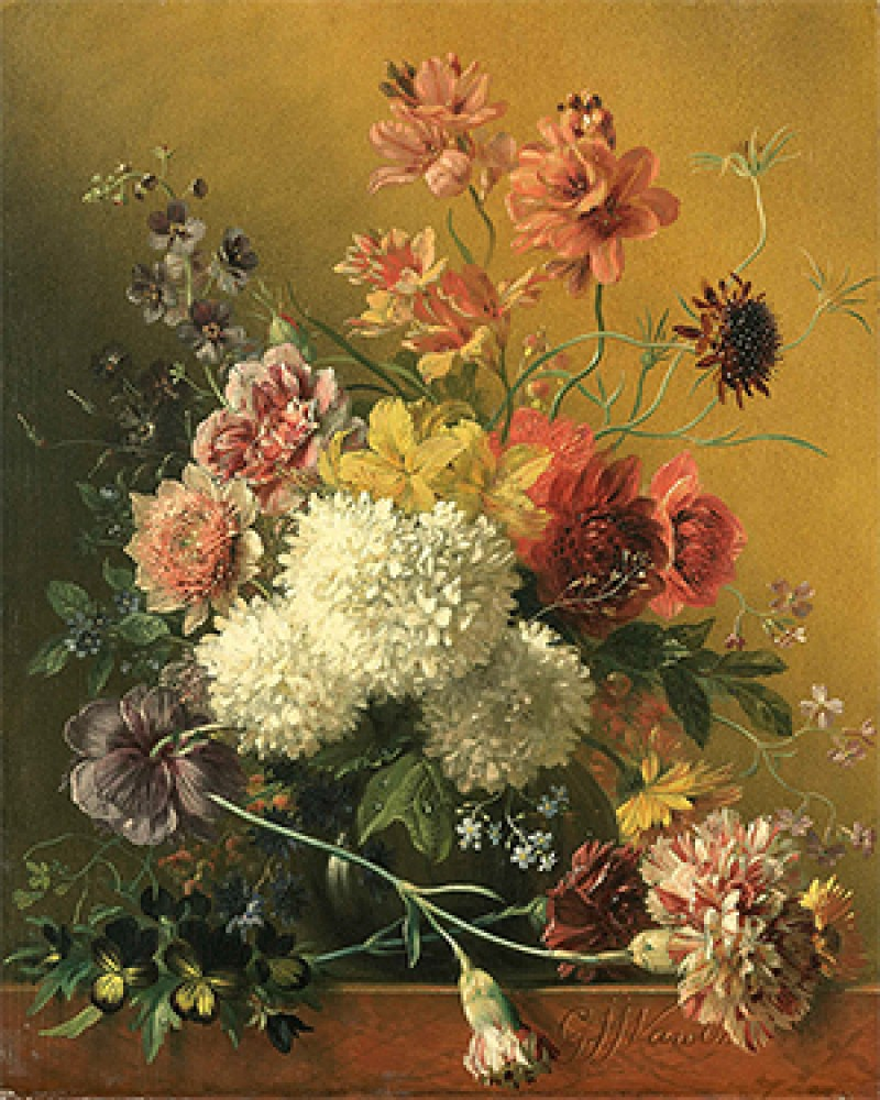Martwa natura z kwiatami Georgius Jacobus Johannes van Os