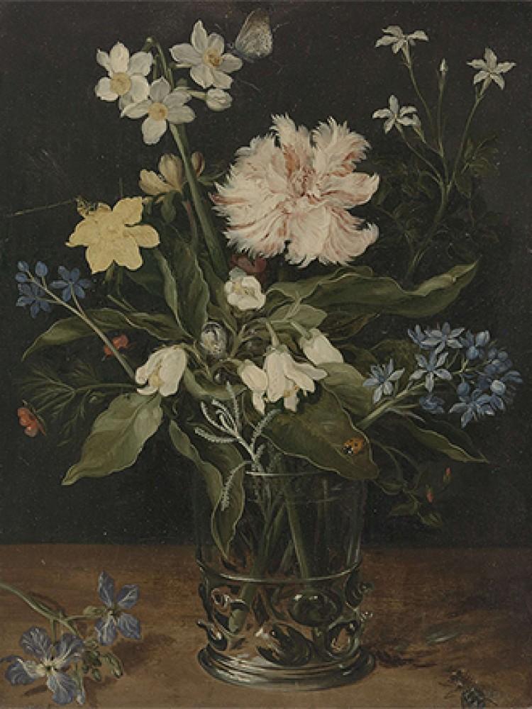 Martwa natura z kwiatami w szklance Jana Brueghela I.