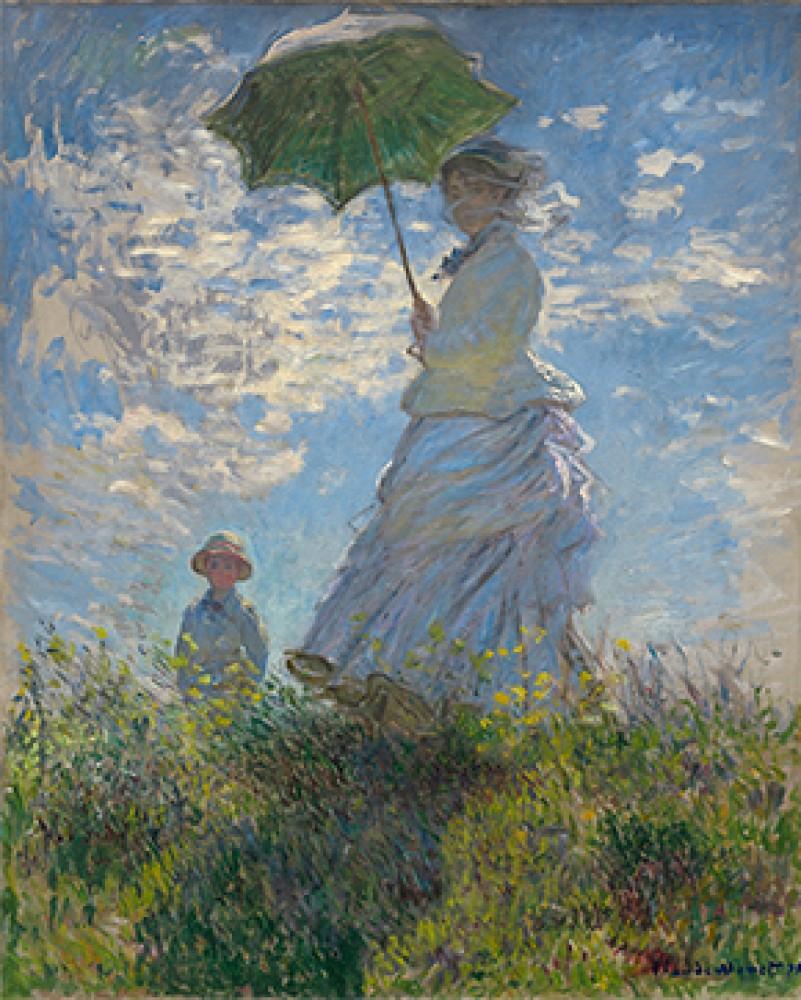 Kobieta z parasolem Madame Monet i jej syn Claude Monet