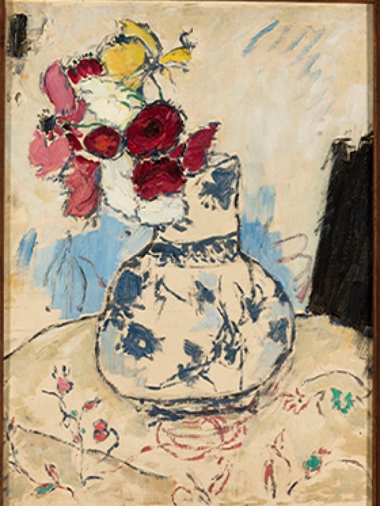 Kwiaty w wazonie Makowski Tadeusz