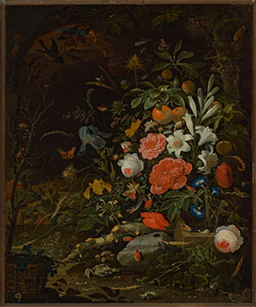 Kwiaty i drobne stworzonka Vanitas Abraham Mignon