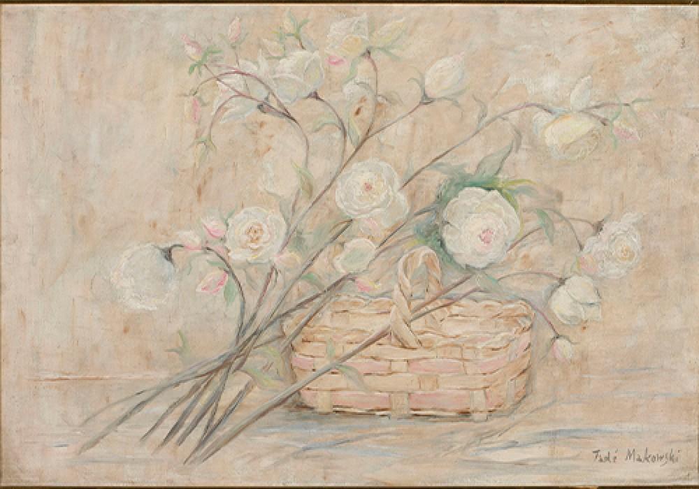 Róże z koszykiem Makowski Tadeusz