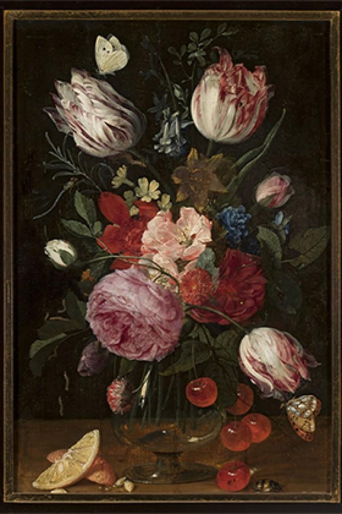 Kwiaty w szklanym wazonie Carstian Luyckx