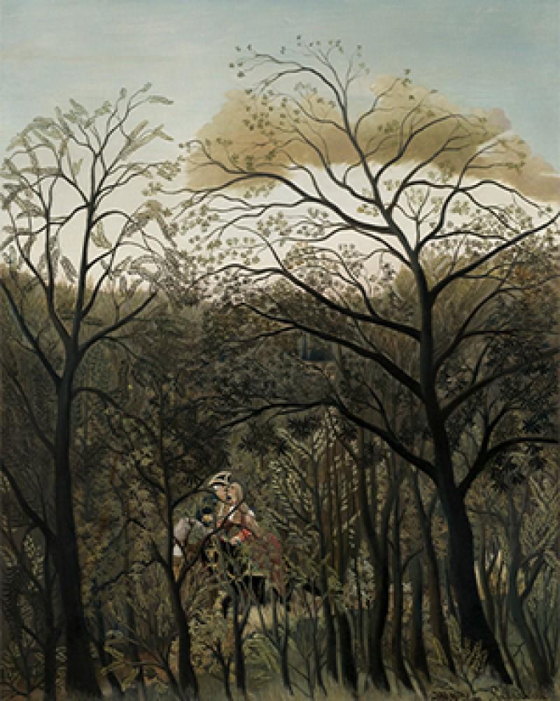 Spotkanie w lesie Henri Rousseau
