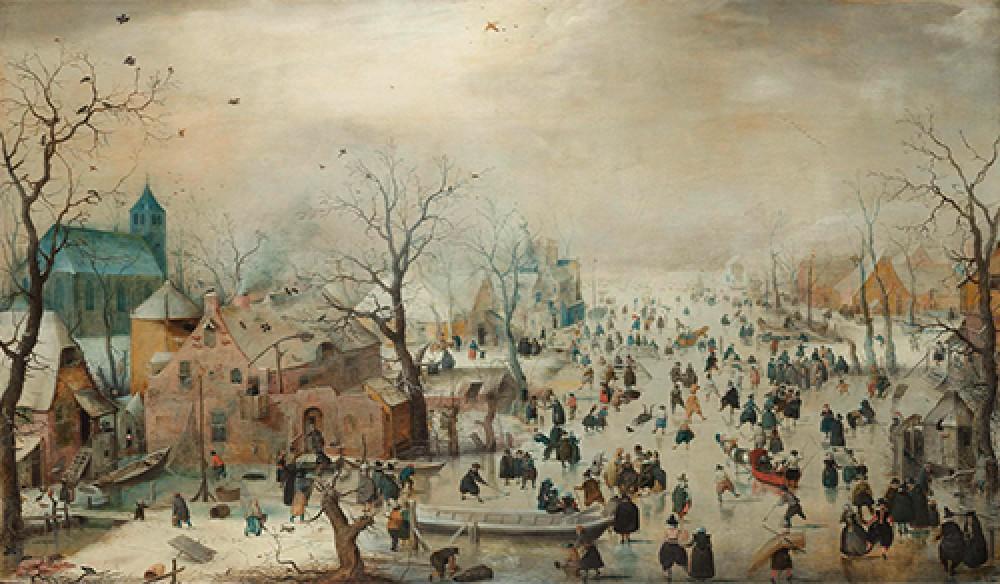 Zimowy krajobraz z łyżwiarzami Hendrick Avercamp
