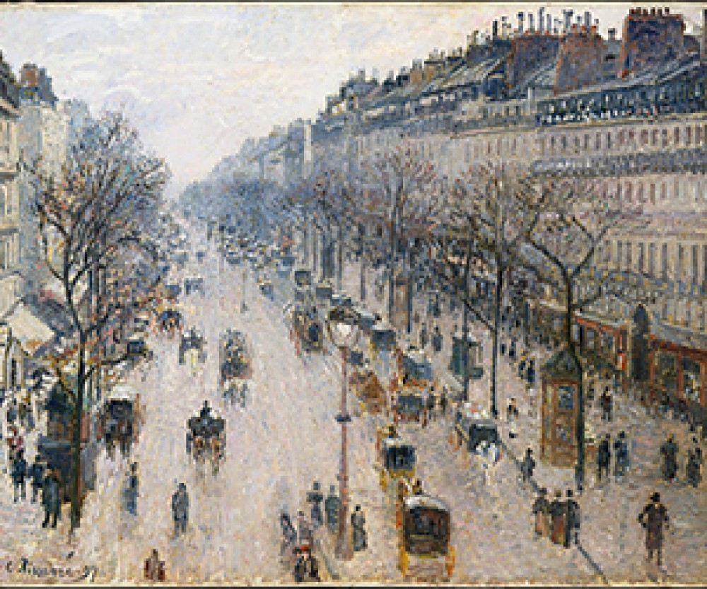 Boulevard Montmartre w zimowy poranek Camille Pissarro