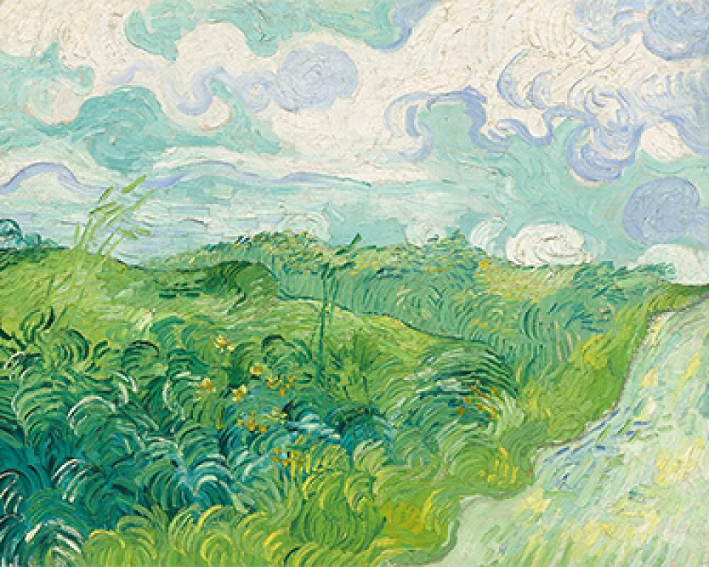 Zielone pola pszenicy, Auvers Vincenta van Gogha