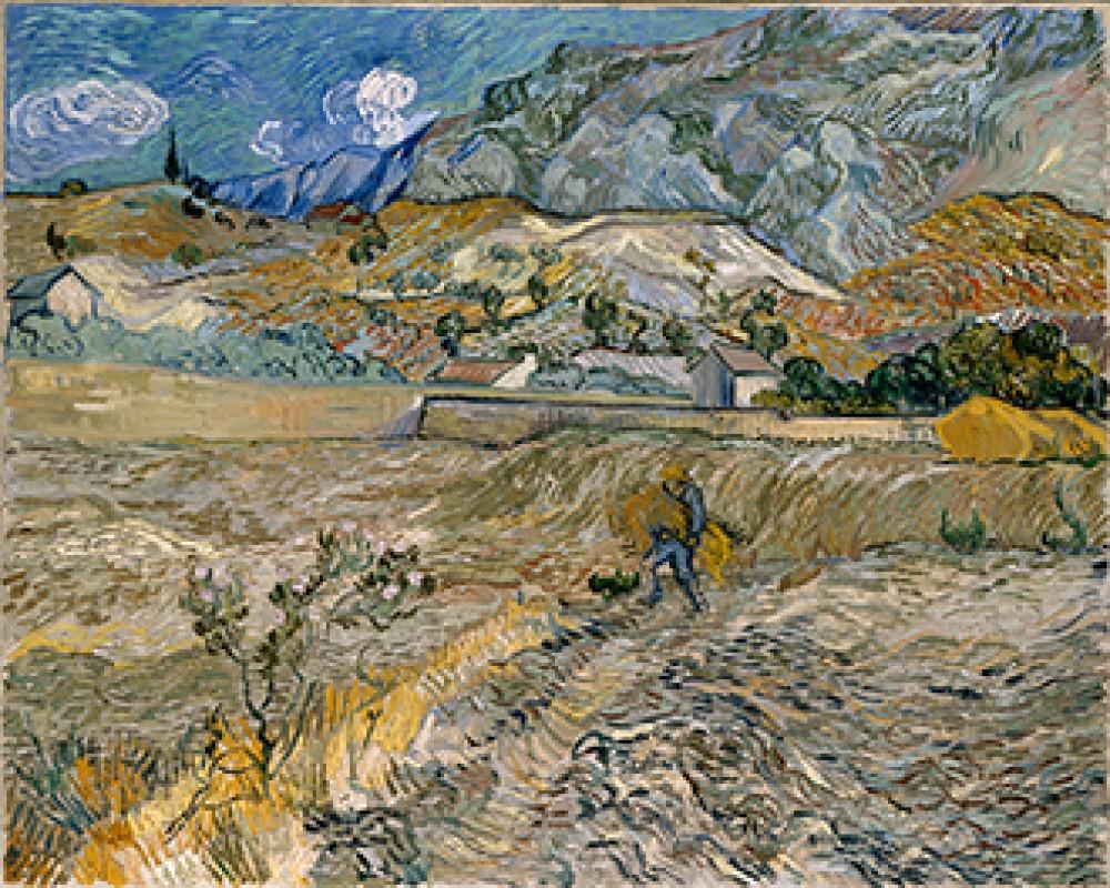Krajobraz w Saint Rémy Vincenta van Gogha