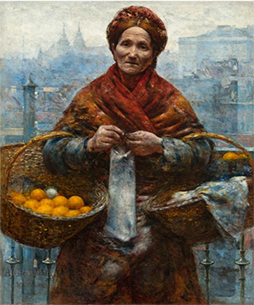 Żydówka z pomarańczami Pomarańczarka Aleksander Gierymski