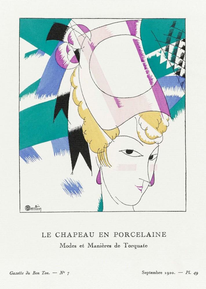 Plakat Porcelanowy kapelusz