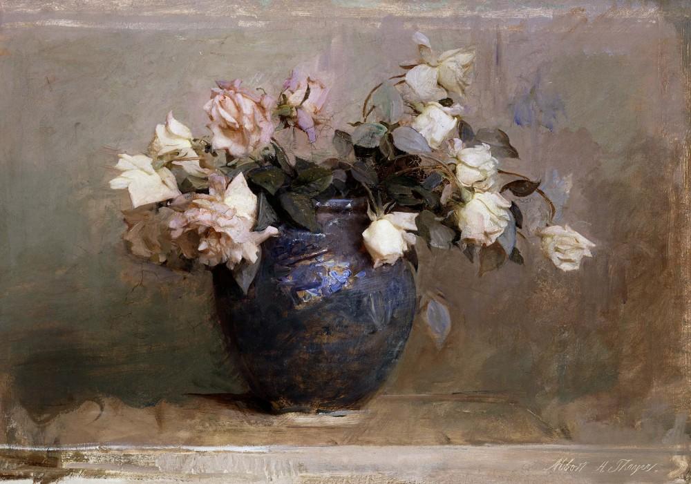 Obraz na płótnie Róże Abbotta Handersona Thayera