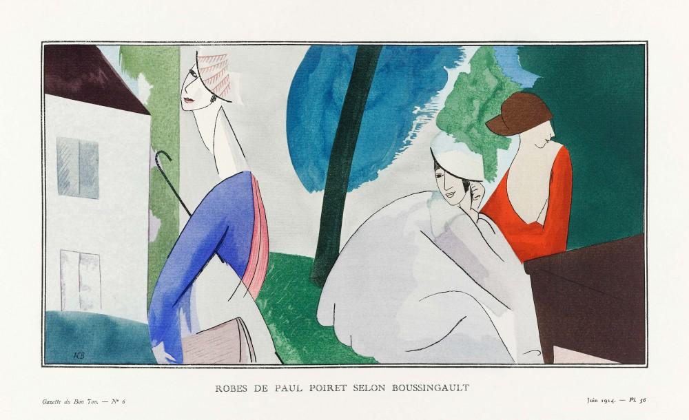 Obraz na płótnie Szaty Paula Poireta