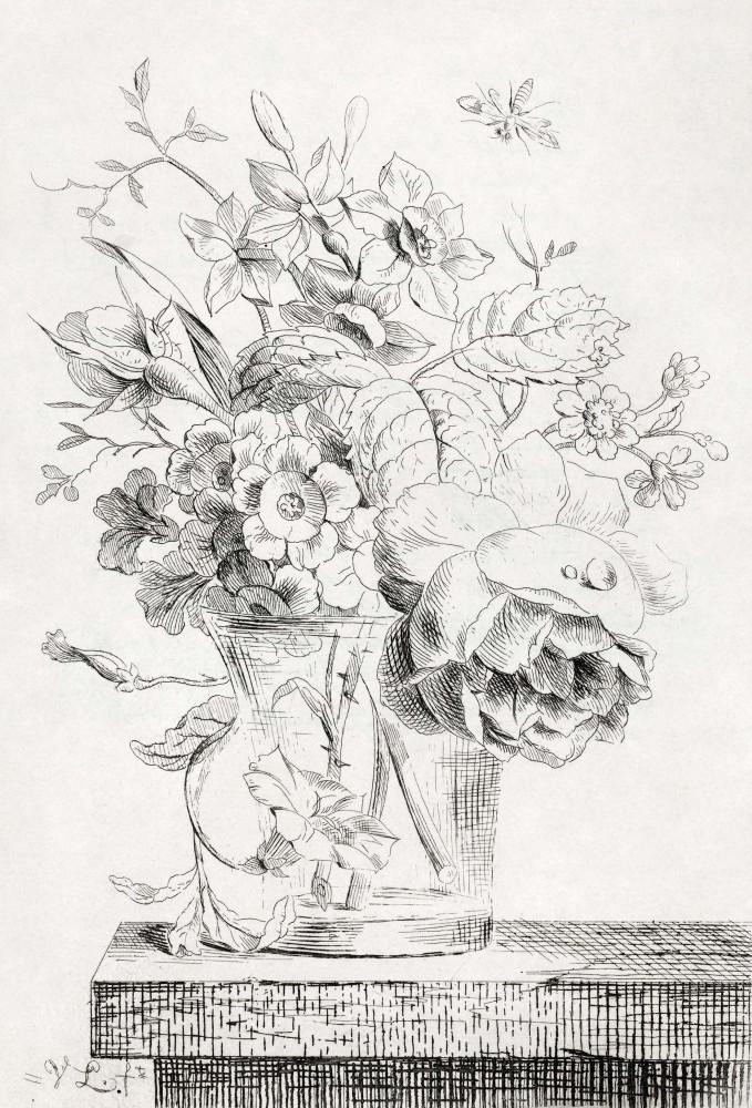 Obraz na płótnie Wazon z kwiatami Willema Van Leena